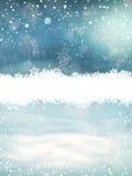 与雪的圣诞节风景 10 eps 免版税库存照片