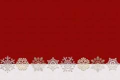 与雪的无缝的冬天背景 库存照片