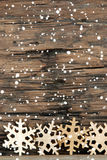 与雪的雪花背景 库存照片