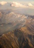 与雪的Himalai山 免版税库存图片