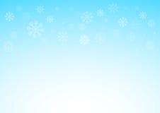与雪花、圣诞节和雪概念, 10的冬天xmas蓝色背景被说明的eps 库存图片