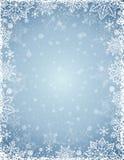 与雪花和星,传染媒介框架的灰色背景  库存照片