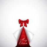 与雪花的典雅的圣诞卡 免版税库存图片