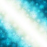 与雪花的典雅的圣诞节背景 免版税图库摄影