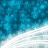 与雪花的典雅的圣诞节背景 免版税库存图片