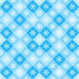 与雪花的冬天几何无缝的样式 免版税库存照片