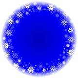 与雪花的冬天框架 库存图片