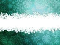 与雪花的冬天背景。EPS 10 免版税库存图片