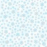 与雪花的冬天背景 免版税库存照片