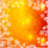 与雪花的圣诞灯 向量背景 免版税库存图片