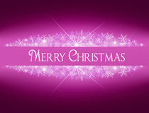 与雪花的圣诞节发光的横幅 向量例证