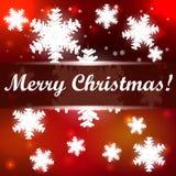 与雪花的圣诞节背景 图库摄影