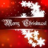与雪花的圣诞节背景 免版税库存图片