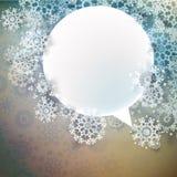 与雪花的抽象冬天设计。EPS 10 免版税图库摄影