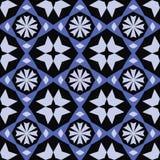 与雪花的抽象几何样式 免版税库存照片