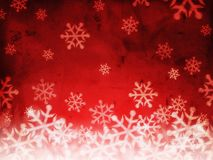 与雪花的抽象红色背景 库存图片