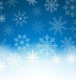 与雪花的新年蓝色背景和您的拷贝空间 库存图片
