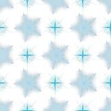 与雪花的无缝的传染媒介冬天样式 免版税库存照片