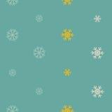 与雪花的无缝的冬天样式背景 免版税库存图片