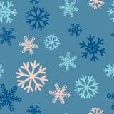 与雪花的无缝的冬天样式背景 库存照片