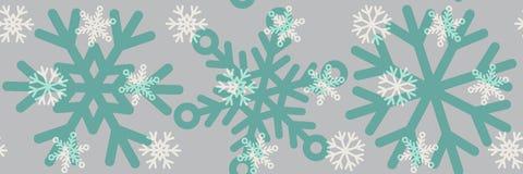 与雪花的无缝的冬天样式背景 库存图片