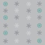 与雪花的无缝的冬天样式背景 图库摄影