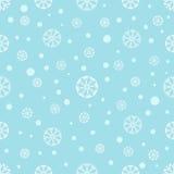 与雪花的无缝的冬天背景 免版税库存照片