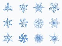 与雪花的无缝的冬天背景 向量例证