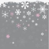 与雪花的无缝的冬天背景 免版税图库摄影