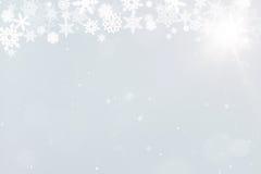 与雪花的背景圣诞节的 免版税库存图片