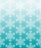 与雪花的蓝色几何无缝的背景 免版税库存照片