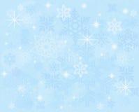 与雪花的蓝色背景 库存图片