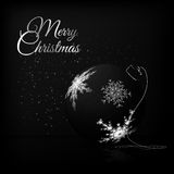 与雪花的透明圣诞节球 库存图片