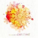 与雪花的贺卡圣诞节庆祝的 库存照片