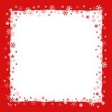 与雪花边界的圣诞节背景 皇族释放例证