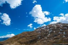 与雪草甸,新西兰的山峰 免版税库存图片