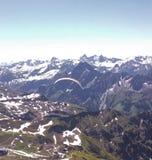 与雪,顶面山的山 库存图片