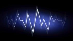 与霓虹作用的抽象波浪背景 库存图片