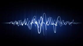 与霓虹作用的抽象波浪背景 库存照片