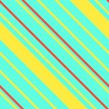 与霓虹对角条纹的无缝的孟菲斯图表减速火箭的样式 免版税库存图片