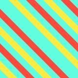 与霓虹对角条纹的无缝的孟菲斯图表减速火箭的样式 库存图片
