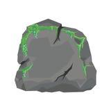 与青苔的石头 免版税库存图片