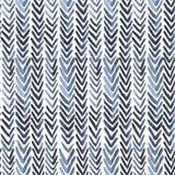 与靛蓝肋骨的无缝的水彩样式在白色 库存图片