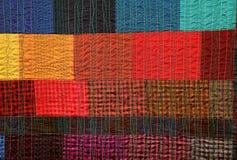与非常e做的织品各种各样的片断的手工制造补缀品 免版税库存照片