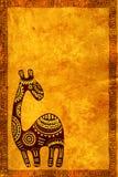 与非洲传统动物的背景 免版税库存图片