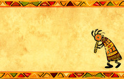 与非洲模式的Grunge背景 免版税库存图片