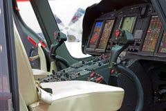 与面板的直升机客舱 库存照片
