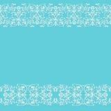 与鞋带样式装饰品的无缝的蓝色土气背景 免版税图库摄影