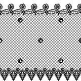 与鞋带设计和边界的传染媒介无缝的纹理 皇族释放例证