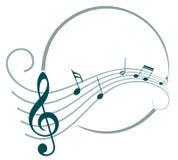 与音乐笔记的框架 库存照片